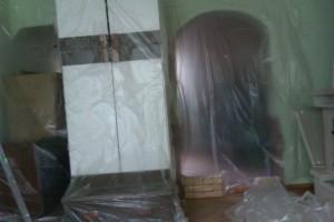 Skuwanie tynków - zabezpieczenie przed pyłem