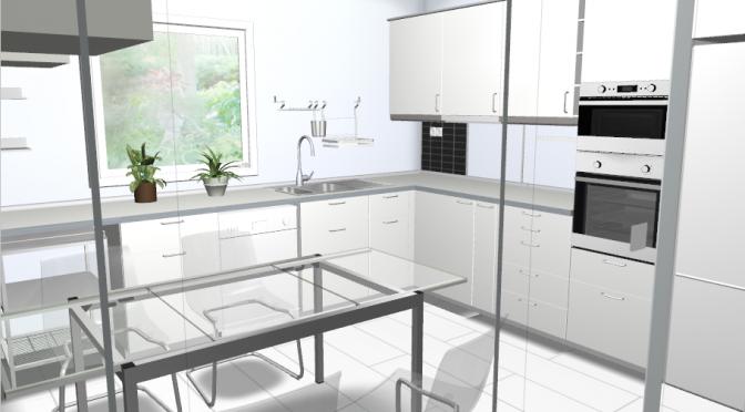 Projekt kuchni w systemie Ikea Metod